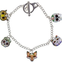 JUBLY UMPH DAY OF THE DEAD CHARM BRACELET