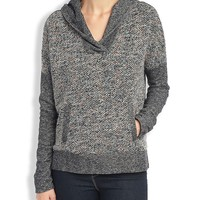 Lucky Brand Sweater Mixed Hoodie Womens - Red/Multicolor