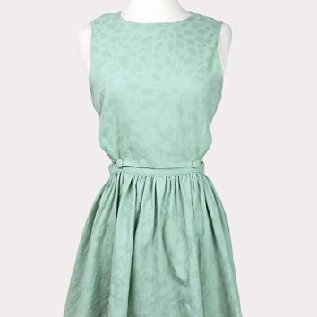 Zulema Cutout Dress in Mint
