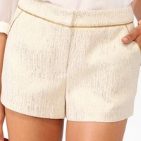Metallic Trimmed Brocade Shorts