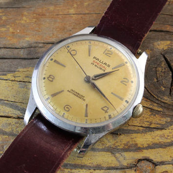 Vintage 36mm Pallas Spezial mens watch swiss watch