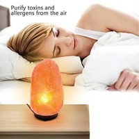 Natural Crystal Rock Himalayan Salt Lamp Air Purifyer Brightness Dimmable Control Novelty Night Lights Lamp, 2-3kg)