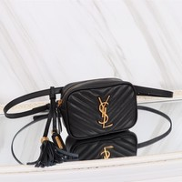 YSL SAINT LAURENT WOMEN'S LEATHER LOU BELT WAIST PACK CROSS BODY BAG