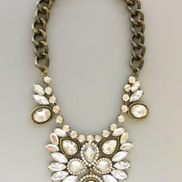 Midnight Chantilly Statement Necklace