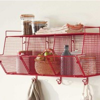 Red 3-Bin Wire Hanging Shelf - VivaTerra