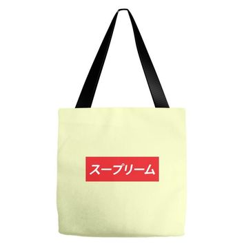 supreme japanese Tote Bags