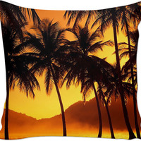 Beach Scene Couch Pillow