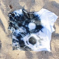 Yin Yang Tie Dye Crop Top Tumblr 70s Hippy Brandy Melvile