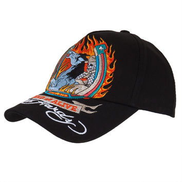 Ed Hardy - Dead or Alive Youth Adjustable Black Baseball Cap