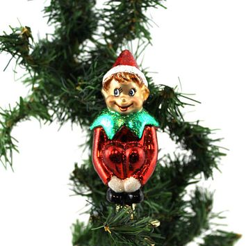 Old World Christmas CHRISTMAS PIXIE WITH CLIP Ornament Elf Shelf Clip On 24154 #
