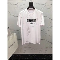GIVENCHY 2018SS Spring and Summer on sale, classic Eugen yarn does not break hole effect letter T-shirt. §005