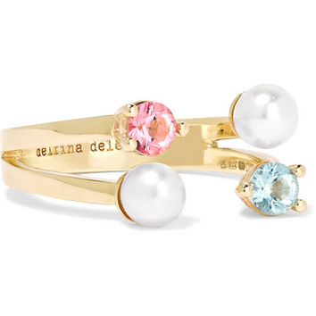 Delfina Delettrez - 9-karat gold, topaz and pearl ring