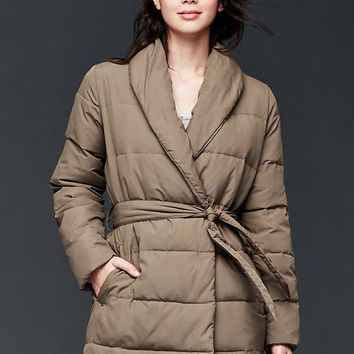 Gap Women Shawlneck Wrap Puffer