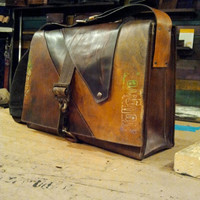 fullgive leather messenger bagthe prodigal by fullgive on Etsy