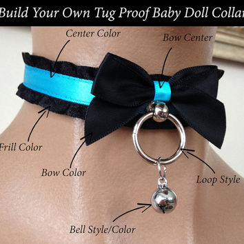 Build Your Own Tug Proof Baby Doll Satin Lined Kittenplay Petplay Collar PLEASE READ DESCRIPTION