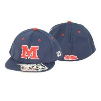 DCCKG8Q NCAA Ole Miss Rebels The Game Blue Hat With Red Block M