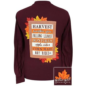 Girlie Girl Originals Preppy Harvest Fall Sign Long Sleeve T-Shirt