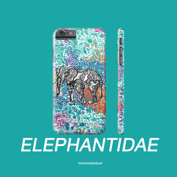 Elephant Paisley Rose Petal Pattern Tribal Illustration Apple IPhone Case 4 5 5c 6 6s Plus