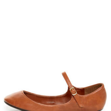 Bamboo Crush 25 Chestnut Brown Mary Jane Ballet Flats - $19.00