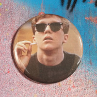 retro style Brian the Breakfast Club movie pin 2-1/4inch pinback button hand pressed badges  80s 1980s movie buttons
