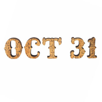 Gold Leaf October 31 Sign