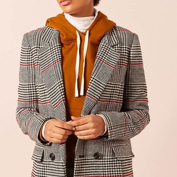 Tweed Houndstooth Blazer