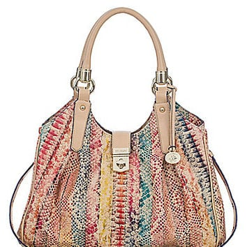 Brahmin Multi Coronado Collection Elisa Snake-Embossed Hobo Bag | Dillards.com