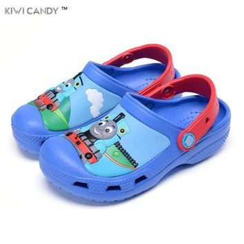 summer children boys girls slipper's cartoon thomas shoes Sandals Non-slip Jelly Shoes Sandals Children Antiskid beach shoes