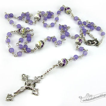 Lavender Amethyst Unbreakable Rosary holy communion gift confirmation rosary catholic rosaries purple rosary ladies rosary birthstone rosary