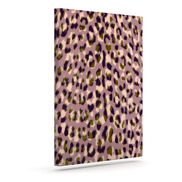 "Vasare Nar ""Leo Cheetah"" Animal Pattern Outdoor Canvas Wall Art"
