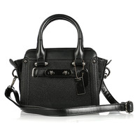 Black Texture PU Grab Bag