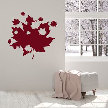 Vinyl Wall Decal Maple Leaves Canadian Art Canada Room Decoration Interior Stickers Mural (ig5535)