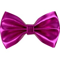 Metallic Faux Leather Hair Bow, Fuchsia