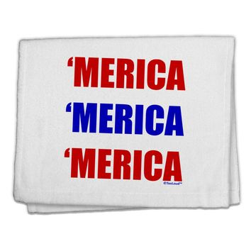 "Merica Merica Merica - Red and Blue 11""x18"" Dish Fingertip Towel"