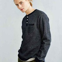 Dark Seas Blue Jacket Long-Sleeve Henley Tee
