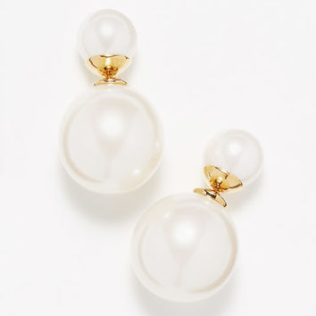 Pearlized Front-To-Back Earrings