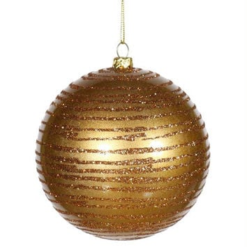 "Christmas Ball Ornament - 8 ""  - Gold"