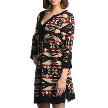Young at Heart Print Sweater Dress
