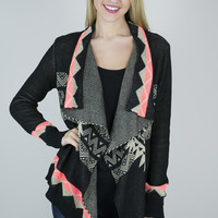 Aztec Lightweight Cardigan Sweater