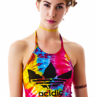 O Mighty Trippin on Acidic Halter Tie Dye