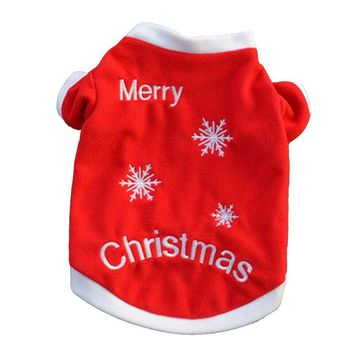 Christmas Pet Dog Coat Clothes Winter Funny Puppy Tshirts Hoodies Cat Chihuahua Teddy Jacket Sweater Roupas para Perro 25