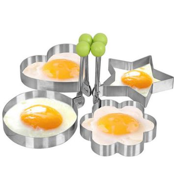 High quality Stainless Steel Fried Egg Shaper Pancake Mould Mold Kitchen Cooking Tools Lovely shape mould for pancakes