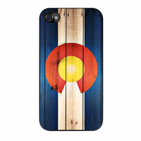 Colorado State Flag Wood Design iPhone 4 Case