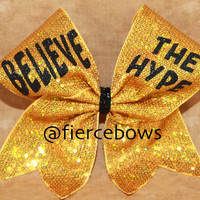 Believe the Hype Cheer Bow