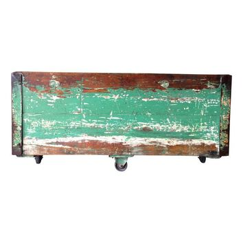 Pre-owned Industrial Wood Knox Factory Cart