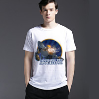 Summer Casual Cotton Strong Character Tee Short Sleeve Creative Men's Fashion Round-neck T-shirts = 6451648323