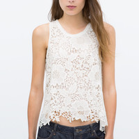 GUIPURE LACE TOP New
