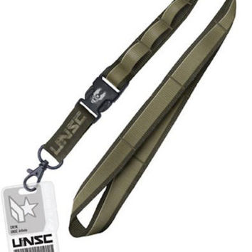 Halo UNSC Infinity Access Card Detachable Buckle Keychain Lanyard and Loops
