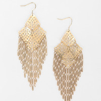 Hanging Chains Chandelier Earring - Urban Outfitters