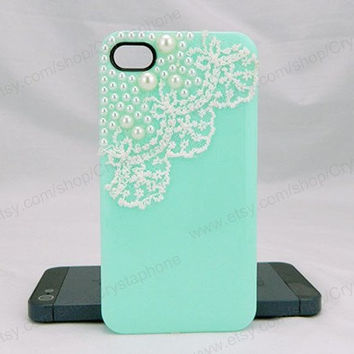 Lace case Pearl  iPhone case,bling iphone 6 case,Crystal iphone 6 Plus,Rhinestone iphone 5/5S/5c,iphone 4 case samsung galaxy S3/S4/S5